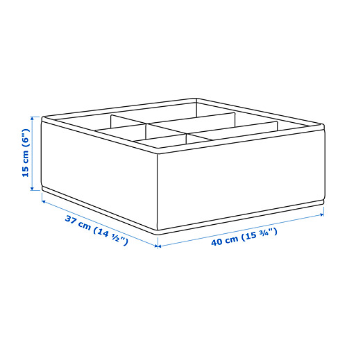 STORSTABBE box with compartments