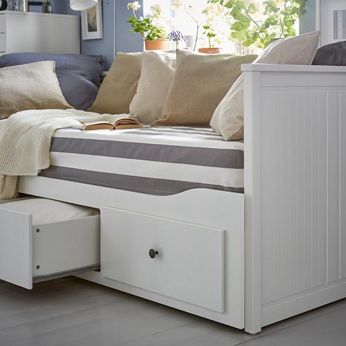 HEMNES - 日間床連3抽屜及2床褥, 白色/Malfors 特級承托 | IKEA 香港及澳門 - PE739474_S4