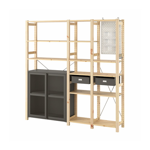 IVAR 3 sections/cabinet/shelves