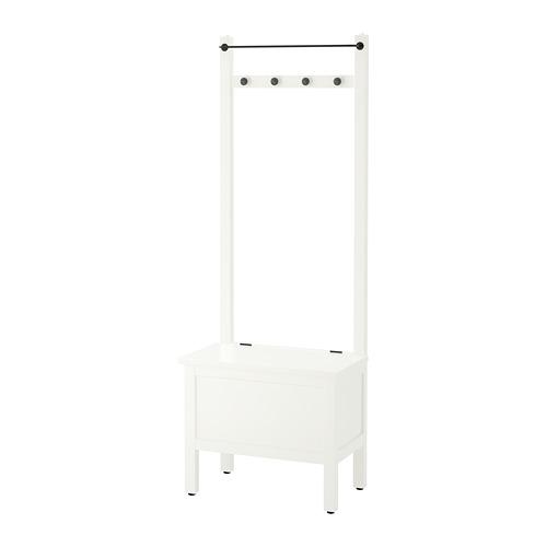 HEMNES - 貯物長几連毛巾架/4個掛鈎, 白色   IKEA 香港及澳門 - PE696603_S4