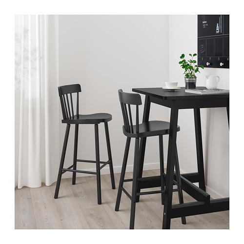 NORRARYD/NORRÅKER - bar table and 2 bar stools, black/black | IKEA Hong Kong and Macau - PE696583_S4