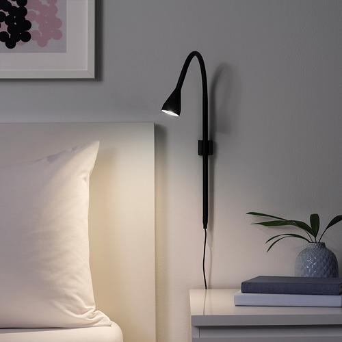 NÄVLINGE - LED壁燈/夾式射燈, 黑色 | IKEA 香港及澳門 - PE739501_S4