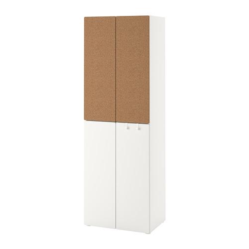 PLATSA/SMÅSTAD - wardrobe, white cork/with 2 clothes rails   IKEA Hong Kong and Macau - PE792474_S4