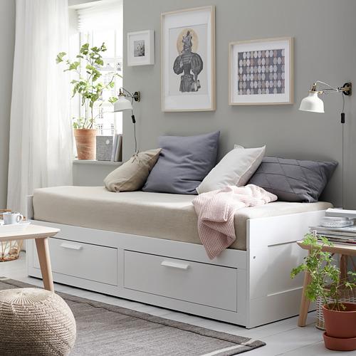 BRIMNES - 日間床連2抽屜及2床褥, 白色/Malfors 高度承托 | IKEA 香港及澳門 - PE739552_S4