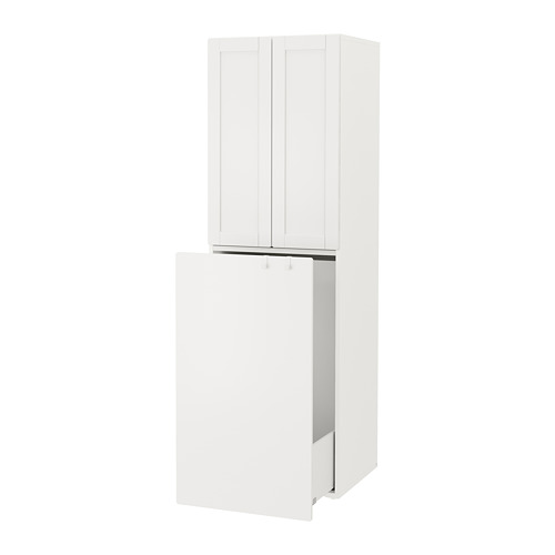 SMÅSTAD - wardrobe with pull-out unit, white with frame/with clothing rod | IKEA Hong Kong and Macau - PE792925_S4