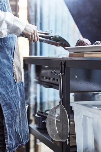 GRILLSKÄR - 燒烤炭爐連貯物櫃, 黑色/不銹鋼 戶外 | IKEA 香港及澳門 - PE792513_S4