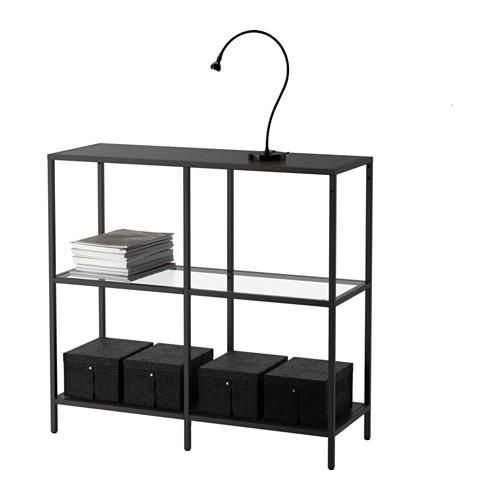 VITTSJÖ - 層架組合, 棕黑色/玻璃 | IKEA 香港及澳門 - PE527562_S4