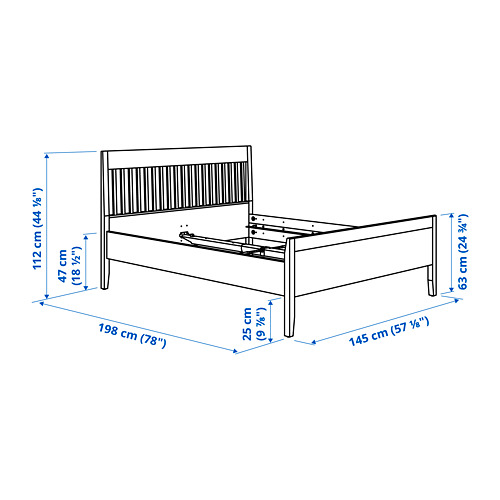 IDANÄS - bed frame, double, dark brown/Lönset | IKEA Hong Kong and Macau - PE792550_S4