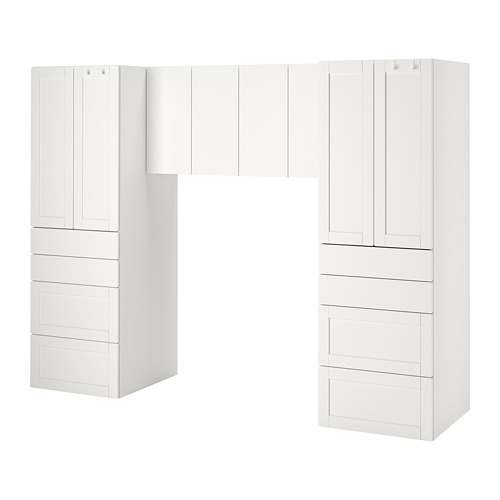 PLATSA/SMÅSTAD - storage combination, white/with frame | IKEA Hong Kong and Macau - PE792570_S4