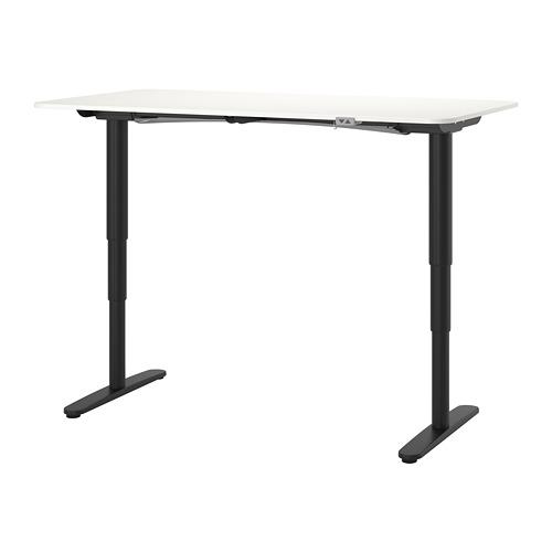 BEKANT - 升降式書檯, 160x80cm, 白色/黑色 | IKEA 香港及澳門 - PE739667_S4