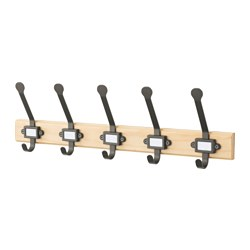 KARTOTEK - rack with 5 hooks, pine/grey | IKEA Hong Kong and Macau - PE649347_S3