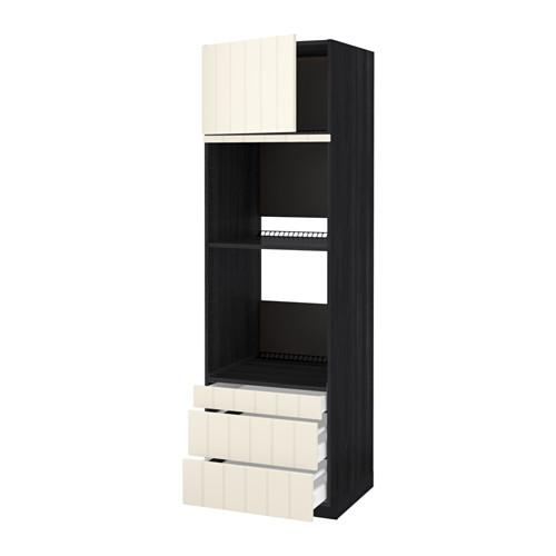 METOD - 焗爐用高櫃連抽屜櫃門組合, 黑色 Maximera/Hittarp 灰白色 | IKEA 香港及澳門 - PE523866_S4