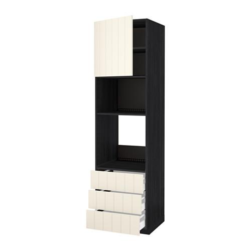 METOD - 微波爐/焗爐用高櫃連抽屜櫃門組合, 黑色 Maximera/Hittarp 灰白色 | IKEA 香港及澳門 - PE523930_S4