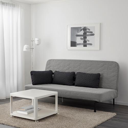 NYHAMN - 3-seat sofa-bed, with foam mattress/Knisa grey/beige   IKEA Hong Kong and Macau - PE641061_S4