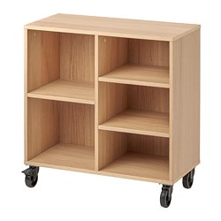 RÅVAROR - shelving unit on castors, oak veneer | IKEA Hong Kong and Macau - PE778333_S3