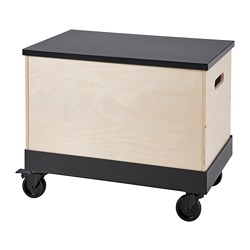 RÅVAROR - coffee/side table on castors, birch plywood/black | IKEA Hong Kong and Macau - PE792654_S3