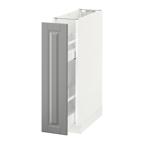 METOD - base cabinet/pull-out int fittings, white/Bodbyn grey | IKEA Hong Kong and Macau - PE588877_S4