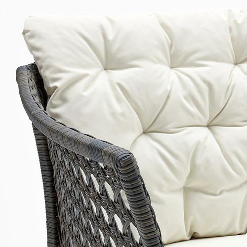 JUTHOLMEN - 3-seat modular sofa, outdoor, dark grey/Kuddarna beige | IKEA Hong Kong and Macau - PE778352_S4