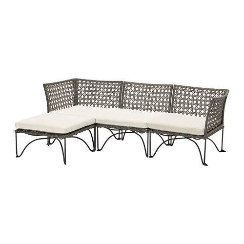 JUTHOLMEN - 3-seat modular sofa, outdoor, dark grey/Kuddarna beige | IKEA Hong Kong and Macau - PE778350_S4