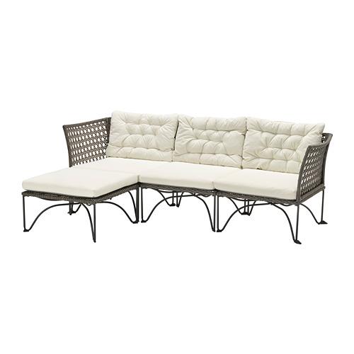 JUTHOLMEN - 3-seat modular sofa, outdoor, dark grey/Kuddarna beige | IKEA Hong Kong and Macau - PE778363_S4