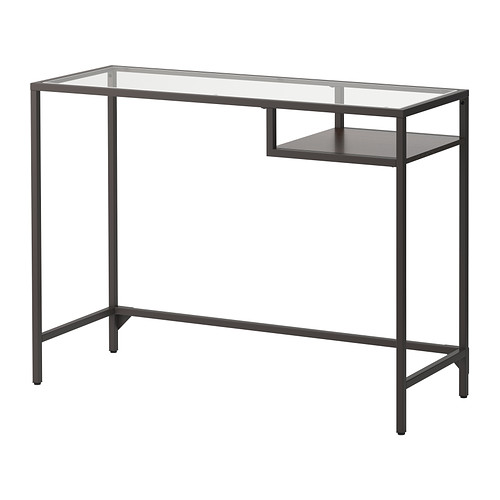 VITTSJÖ - laptop table, 100x36x74 cm, black-brown/glass | IKEA Hong Kong and Macau - PE292080_S4