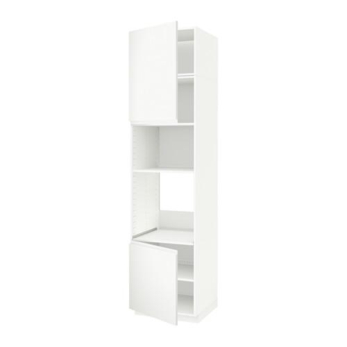 METOD - hi cb f oven/micro w 2 drs/shelves, white/Voxtorp matt white | IKEA 香港及澳門 - PE588974_S4