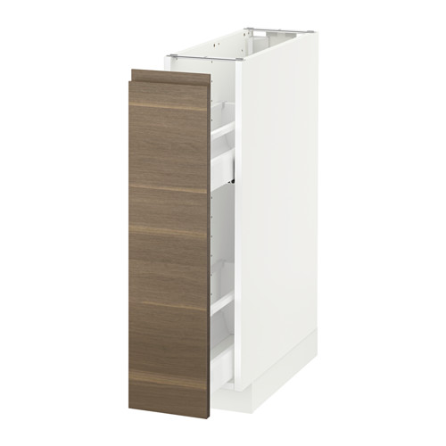 METOD - base cabinet/pull-out int fittings, white/Voxtorp walnut | IKEA Hong Kong and Macau - PE588995_S4
