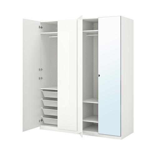 FARDAL/VIKEDAL/PAX - wardrobe combination, high-gloss white/mirror glass | IKEA Hong Kong and Macau - PE792727_S4