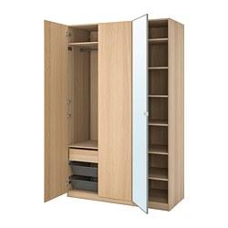 PAX/REPVÅG/VIKEDAL - 衣櫃組合, white stained oak effect/mirror glass | IKEA 香港及澳門 - PE792756_S3