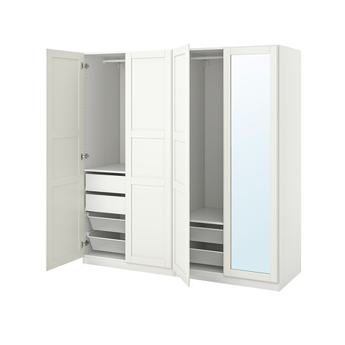 PAX/TYSSEDAL - wardrobe combination, white/mirror glass | IKEA Hong Kong and Macau - PE792752_S4