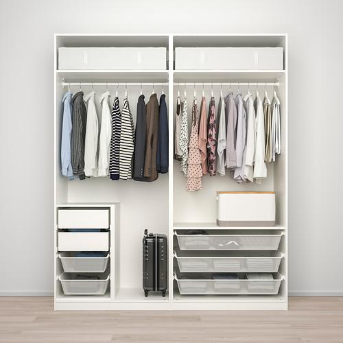 PAX/HOKKSUND - 衣櫃組合, white/high-gloss light grey   IKEA 香港及澳門 - PE792786_S4