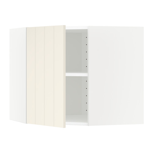 METOD corner wall cabinet with shelves