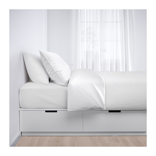NORDLI bed frame with storage, single, Mattress size 90x200cm