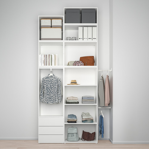PLATSA - wardrobe with 5 doors+3 drawers, white/Fonnes white | IKEA Hong Kong and Macau - PE778571_S4