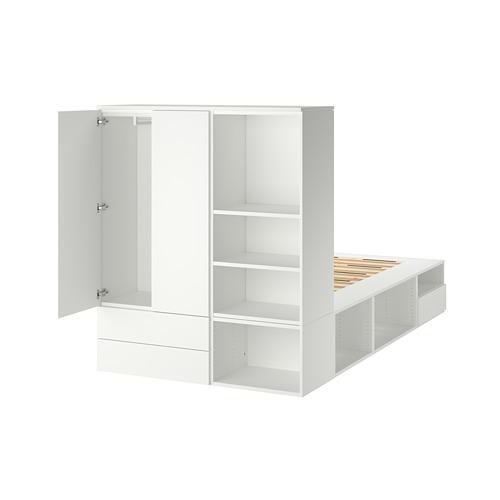 PLATSA - bed frame with 2 door+3 drawers, white/Fonnes   IKEA Hong Kong and Macau - PE778568_S4