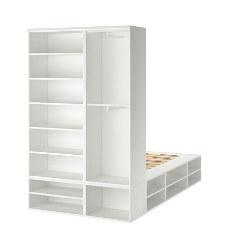 PLATSA - bed frame with storage, white | IKEA Hong Kong and Macau - PE778577_S4