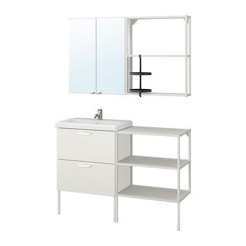 TVÄLLEN/ENHET - bathroom furniture, set of 15, white/Pilkån tap   IKEA Hong Kong and Macau - PE838091_S4