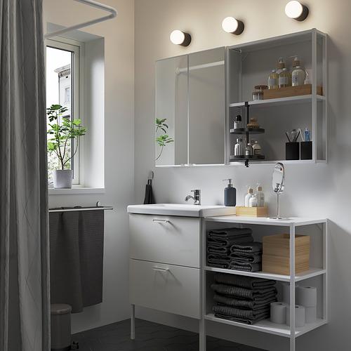 TVÄLLEN/ENHET - bathroom furniture, set of 15, white/Pilkån tap   IKEA Hong Kong and Macau - PE838089_S4