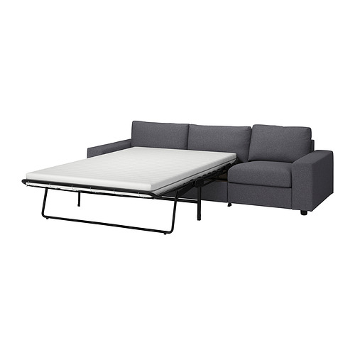 VIMLE - 三座位梳化床, 有寬闊扶手/Gunnared 暗灰色 | IKEA 香港及澳門 - PE838098_S4