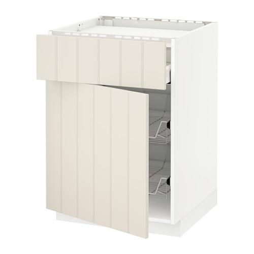 METOD/MAXIMERA 爐具地櫃連抽屜/2鋼條籃