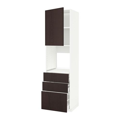 METOD 焗爐用高櫃連抽屜櫃門組合