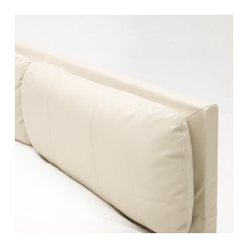 MALM 床頭板套連2個靠墊, 特大雙人床架用