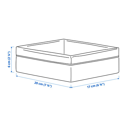 BAXNA - 收納用品, 20x17x6 cm, 灰色/白色   IKEA 香港及澳門 - PE792838_S4