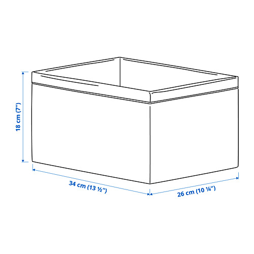 BAXNA - 收納用品, 34x26x18 cm, 灰色/白色   IKEA 香港及澳門 - PE792839_S4