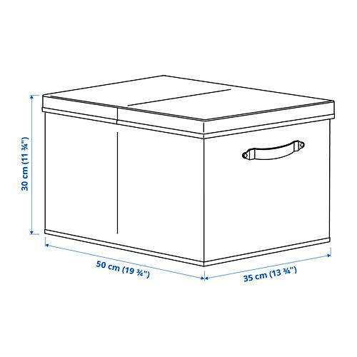BLÄDDRARE - box with lid, grey/patterned | IKEA Hong Kong and Macau - PE792846_S4