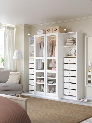 PAX - 衣櫃, 白色/Tyssedal 玻璃 | IKEA 香港及澳門 - PH170937_S4