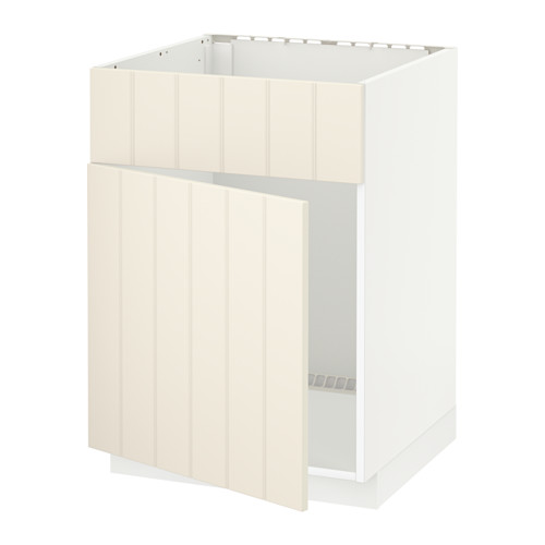 METOD base cabinet f sink w door/front