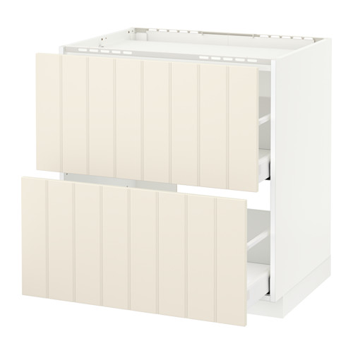 METOD base cab f hob/2 fronts/2 drawers