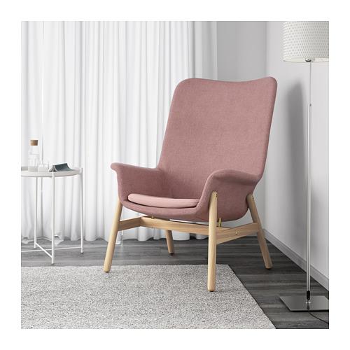 VEDBO - high-back armchair, Gunnared light brown-pink | IKEA Hong Kong and Macau - PE649541_S4