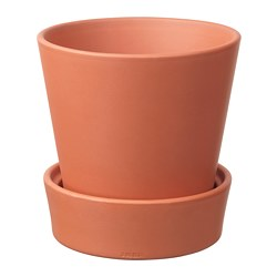 INGEFÄRA - plant pot with saucer, outdoor/terracotta | IKEA Hong Kong and Macau - PE697301_S3